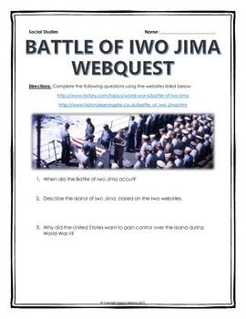 World War II - Battle of Iwo Jima - Webquest with Key