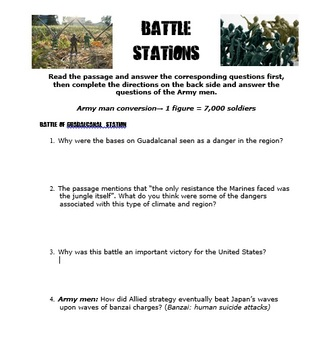 World War II Battles, Interactive Army Men Lesson
