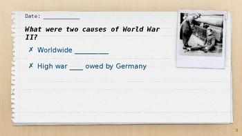 World War II Bellringers Flipchart