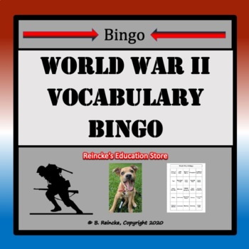 World War II Bingo (30 pre-made cards!)