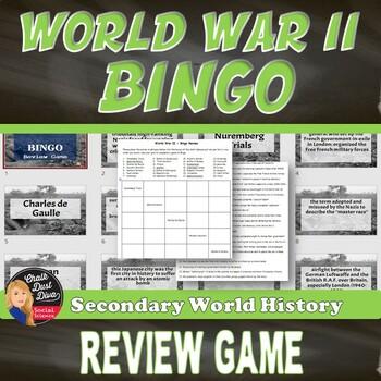 World War II Bingo Review Game