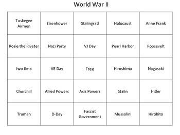 World War II Bingo by KMediaFun