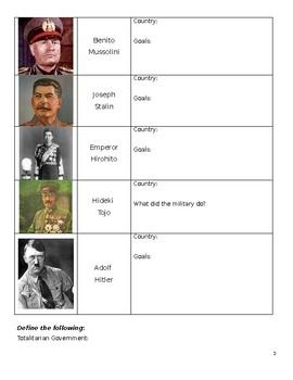 World War II Booklet