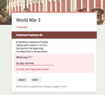World War II Break In