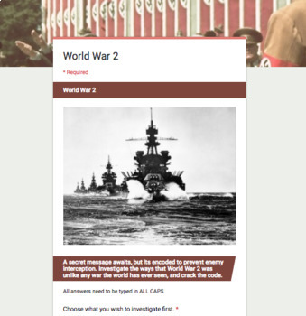 Technology and Features of World War 2 Break In Activity