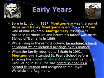 World War II - British Military Leaders - Bernard Montgomery