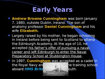 World War II - British Military Leaders - Sir Andrew Cunningham