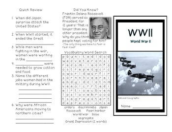 World War II Brochure