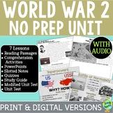 World War 2 Bundle, World War II, WW2, WWII; Distance Learning