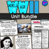 World War II Bundle (SS5H4) Lessons, Doodle Notes and Test (WWII)