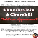 World War II – Chamberlin & Churchill Debate on Appeasement Quote Analysis