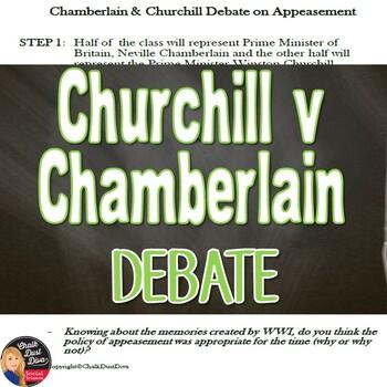 World War Ii Chamberlin Churchill Debate On Appeasement Quote