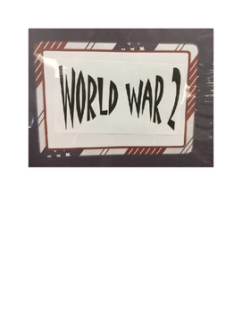 World War II Class Scrapbook and Writing Project - SS5H6