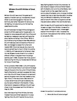 World War II Close Reading Packet