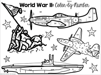 World War II: Color-by-Number Activity