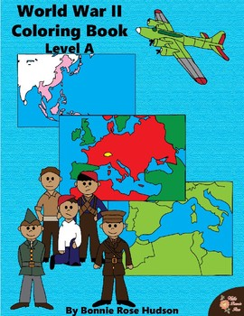 World War II Coloring Book-Level A