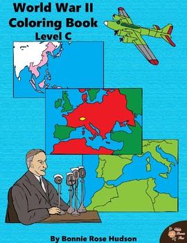 World War II: Coloring Book-Level C