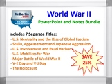 World War II PowerPoint and Notes Bundle