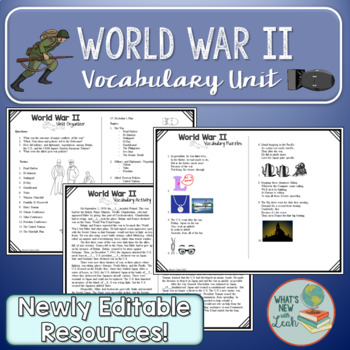 World War II Complete Vocabulary Unit