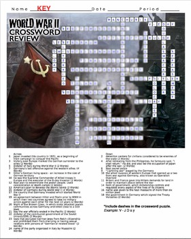 World War II Crossword Puzzle Review (WWII)