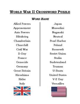 World War II Crossword Puzzle & Word Search