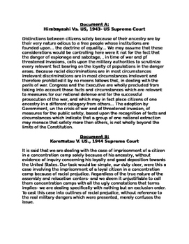 World War II- DBQ: Was the Internment of Japanese Americans Justified?