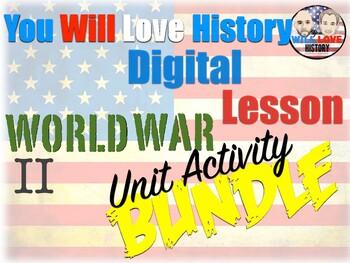 World War II DIGITAL Unit Activity Bundle (ACTIVITIES ONLY)