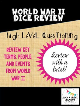 World War II Dice Review Activity