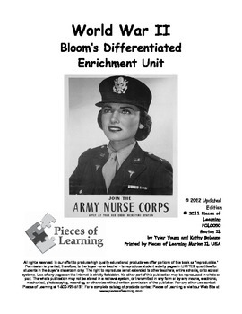 World War II - Differentiated Blooms Enrichment Unit