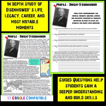 World War II - Dwight D Eisenhower Guided Reading!