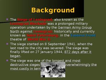 World War II - Eastern Front - Siege of Leningrad
