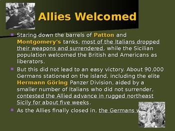 World War II - European Theater - Allies Invasion of Italy