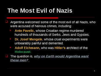 World War II - European Theater - Argentina's Nazi Criminals