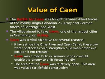 World War II - European Theater - Battle of Caen