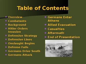 World War II - European Theater - Battle of Greece
