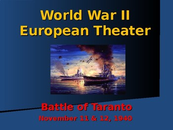 World War II - European Theater - Battle of Taranto