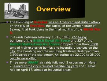 World War II - European Theater - Dresden Bombings
