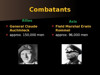 World War II - African Campaign - First Battle of El Alamein