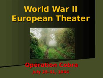 World War II - European Theater - Operation Cobra