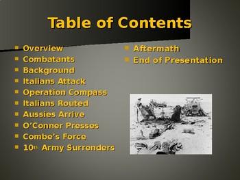 World War II - Western Desert Campaign - Operation Compass
