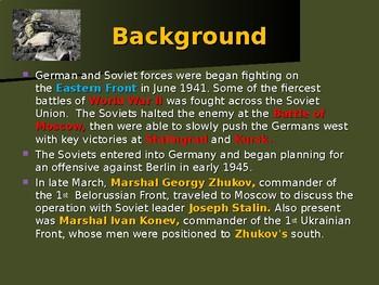 World War II - European Theater - Battle of Seelow Heights