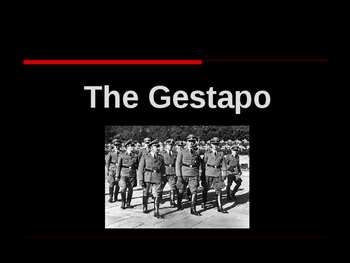 World War II - European Theater - The Gestapo