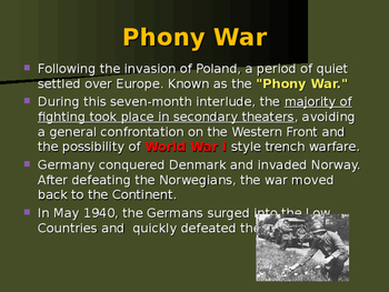 World War II - European Theater - The Phony War