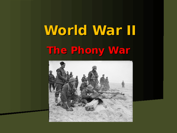 World War II - European Theater - The Phony War