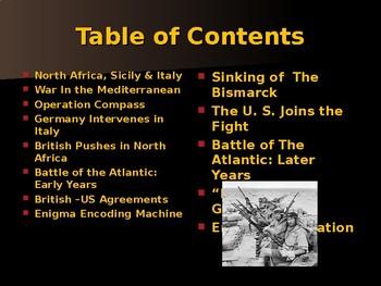 World War II - European Theater - War in the Mediterranean Sea