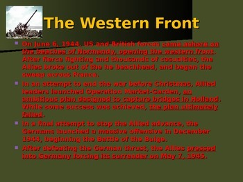 World War II - European Theater - The Western Front