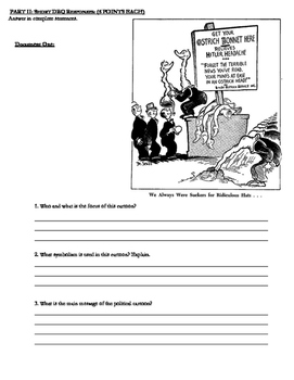 World War II Exam- Form B with Answer Key