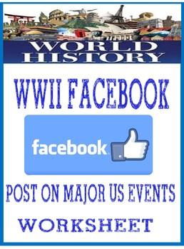 World War II Facebook Posts on major U.S. Events