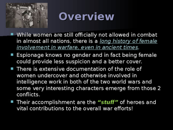World War II - Female Spies of World War II