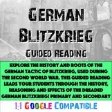 World War II - German Blitzkrieg Guided Reading!